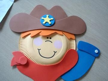 Here is the finished paper plate kit.  This little cowboy is really cute and this was a very easy craft project to work with.