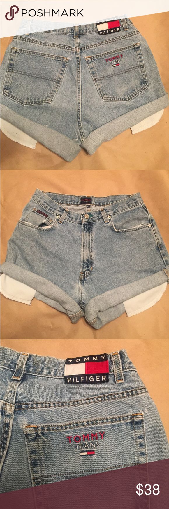 Vintage Tommy Hilfiger cutoff Jean shorts waist 32 Super rare and aaaaamazing condition vintage Tommy Hilfiger Jean shorts. Cutoff Tommy jeans. Back patch and stitching are impeccable no flaws. Just not my size price is firm, ships next day  Tommy Hilfiger Shorts Jean Shorts