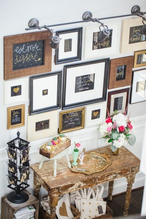 Love this front entry way! Favorite Things party by Jenny Keller | Jenny Cookies | via Kara's Party Ideas KarasPartyIdeas.com