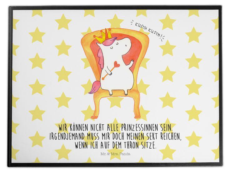 Schreibtischunterlage Einhorn König Aus Kunststoff Schwarz   Das Original  Von Mr. U0026 Mrs. Panda. Die Schreibtischunterlage Wird In Deutschland  Exklusiv Für ...