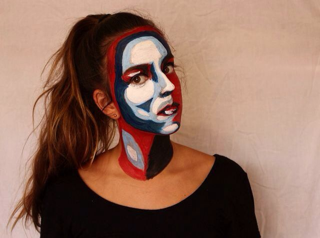 Painted face- photo taken by Ashleigh Hunter