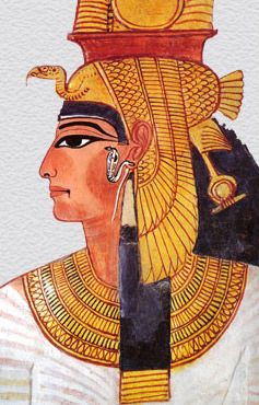 A depiction of Nefertari, the wife of Ramesses II as a somewhat older woman shows only subtle aging