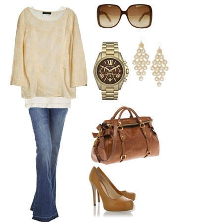 looks soo comfy (minus the shoes, purse, earrings and watch)