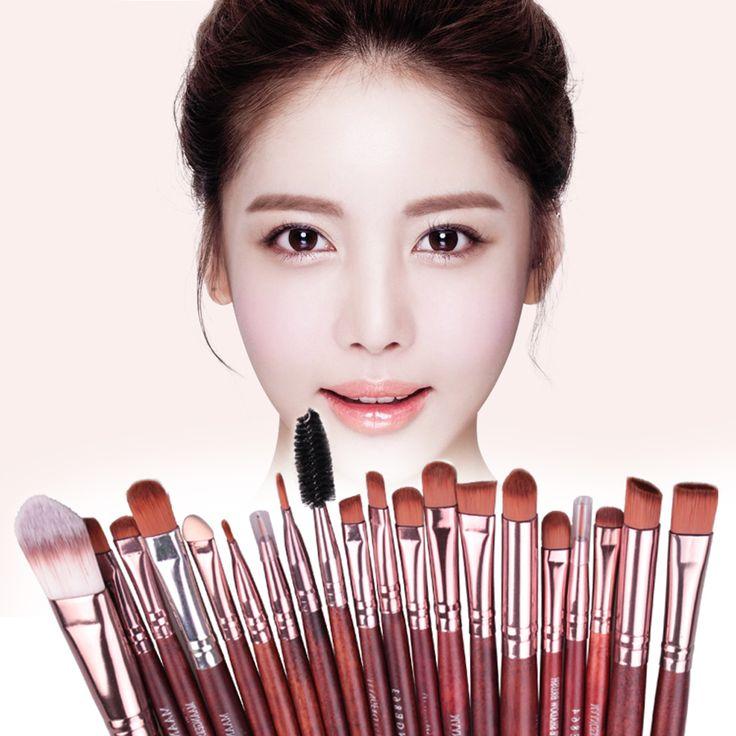 Aliexpress.com: Kup 20 sztuk Facail Zestawy Profesjonalne Cienie Do Powiek Eyeliner Lip Fundacja Kosmetyczne Pędzle Do Makijażu Pędzle Kosmetyczne Narzędzia maquillaje 3 Kolor od zaufanego brochas maquillaje dostawcy na iFashion Beauty