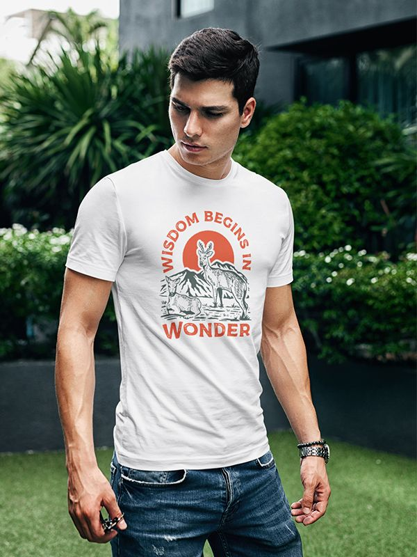 Wisdom Being In Wonder Travel T Shirt T Shirt Shirts Couple T Shirt