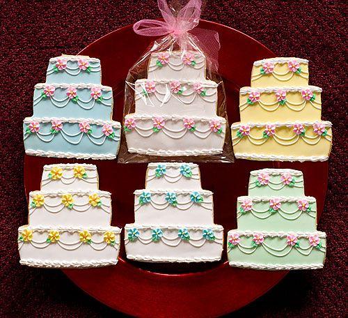 Fancy Wedding Cake Decorated Cookies
