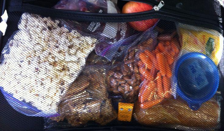 Easy healthy travel snacks