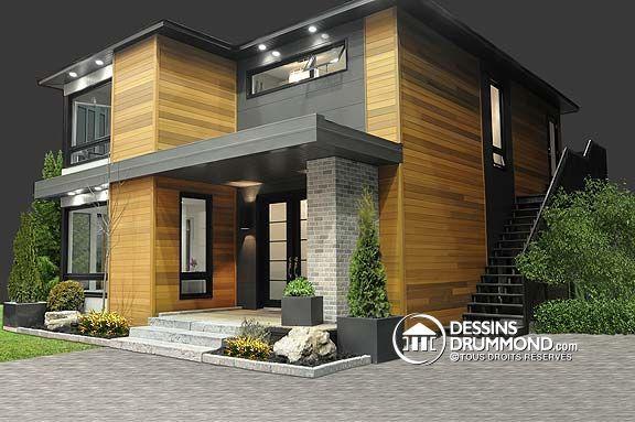 maison de style contemporain plan no. 3713 de Dessins Drummond, photos intérieures à voir!