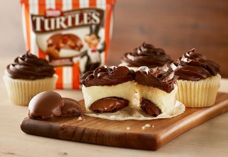 TURTLES Hidden Gem Cupcakes There's cupcakes, and then there's surprise cupcakes! With whole TURTLES baked into fluffy cake, these delicious treats are sure to surprise and delight.