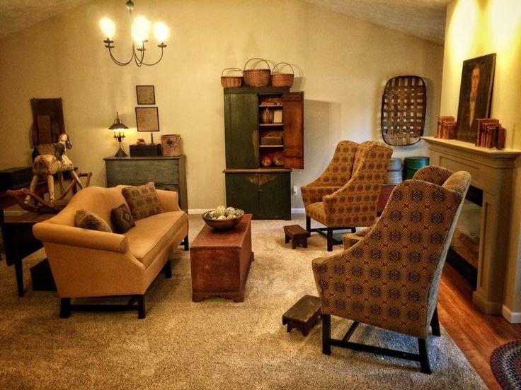 mesmerizing primitive living room decorating | 133 best Dan Weaver White Home images on Pinterest ...