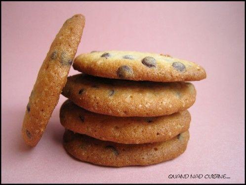 Biscuits fins aux pépites de chocolat, Martha Stewart a encore frappé! - Quand Nad cuisine...