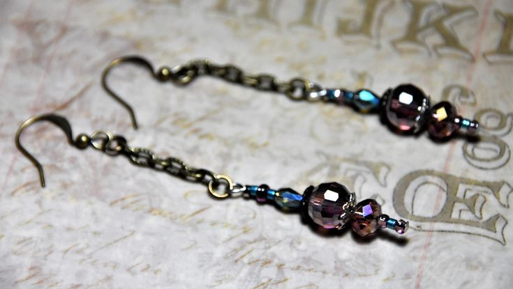 Romantic Earrings, Sexy Earrings, Valentine Jewelry, Bohemian Long Earrings,Bohemian Bridal Jewelry,Gift for Her,Outlander Jewelry,Victorian