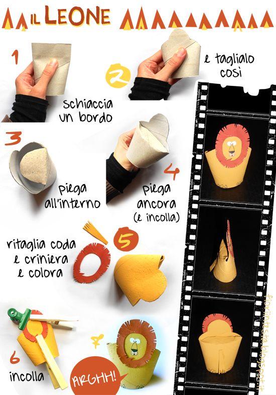 FIORI IN TESTA: Homemade TOYS: ANIMALI 3D - seconda versione