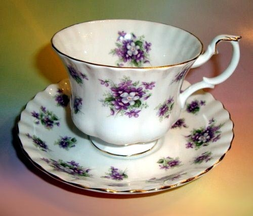 "Royal Albert ""Sweet Violets"" Tea Cup and Saucer"