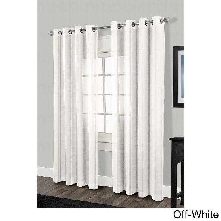ATI Home Apollo Grommet Top Sheer Curtain Panel Pair