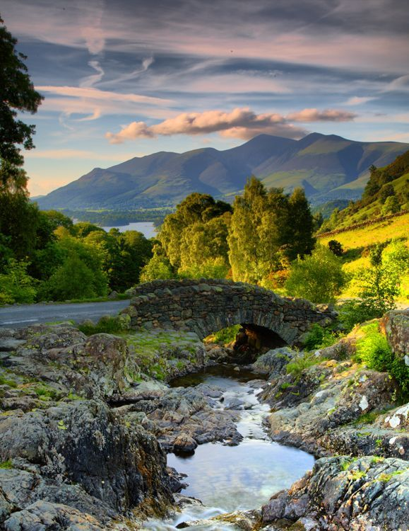 Ashness Bridge, Lake District, Cumbria, England.