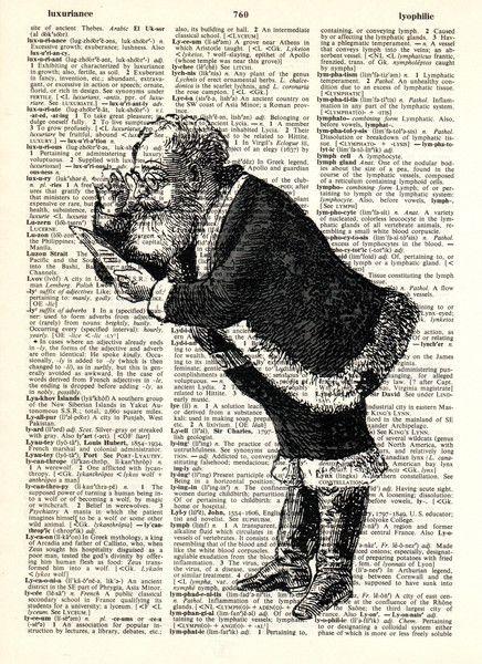 Illustrationen - WEIHNACHTS MANN Antike Weihnachts original vorlage - ein Designerstück von Dictionary-vintage-book-page bei DaWanda