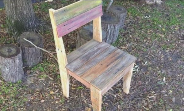 How to make a chair out of wood pallets woodworking Chairs made out of wooden pallets