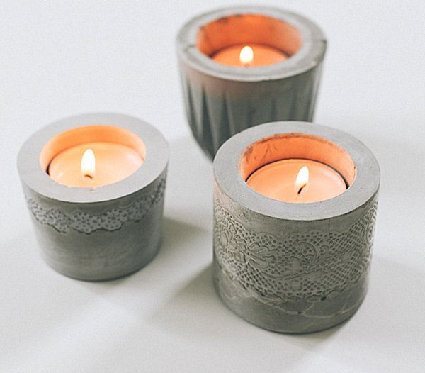 DIY cement votives - Decoist