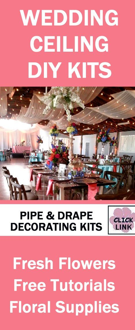 17 best wedding ceiling decorations images on pinterest wedding draping kits for weddings backdrops lighting and more see free flower tutorials plus buy professional florist supplies and bulk flowers online junglespirit Gallery