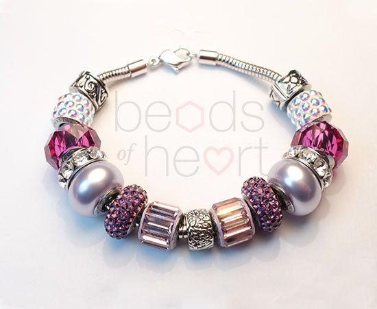 Swarovski steel bracelet.