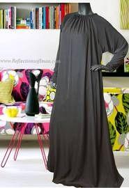 Black Umbrella Style Saudi Abaya