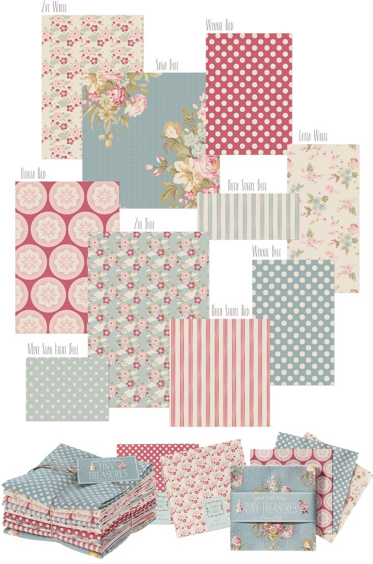 'Tiny-Treasures'-Fabric-2 - Great for a quilt! We just got this in at Quiltessential Co