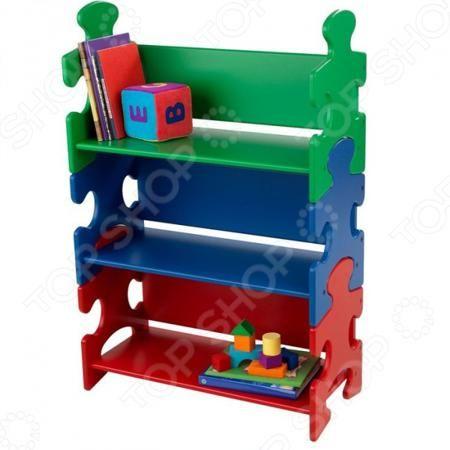 KidKraft Puzzle Book Shelf Primary  — 11056р. ------------------ Стеллаж детский KidKraft Puzzle Book Shelf Primary яркое,стильное и практичное решение для детской комнаты. Стеллаж достаточно вместительный, поэтому позволит сложить все необходимые игрушки, книги и прочие мелочи в одном месте! Корпус выполнен из прочного и натурального материала дерева. Стеллаж отличается стильным и очаровательным дизайном в виде пазла, который позволяет ему вписаться в интерьер любой комнаты и привнести в…