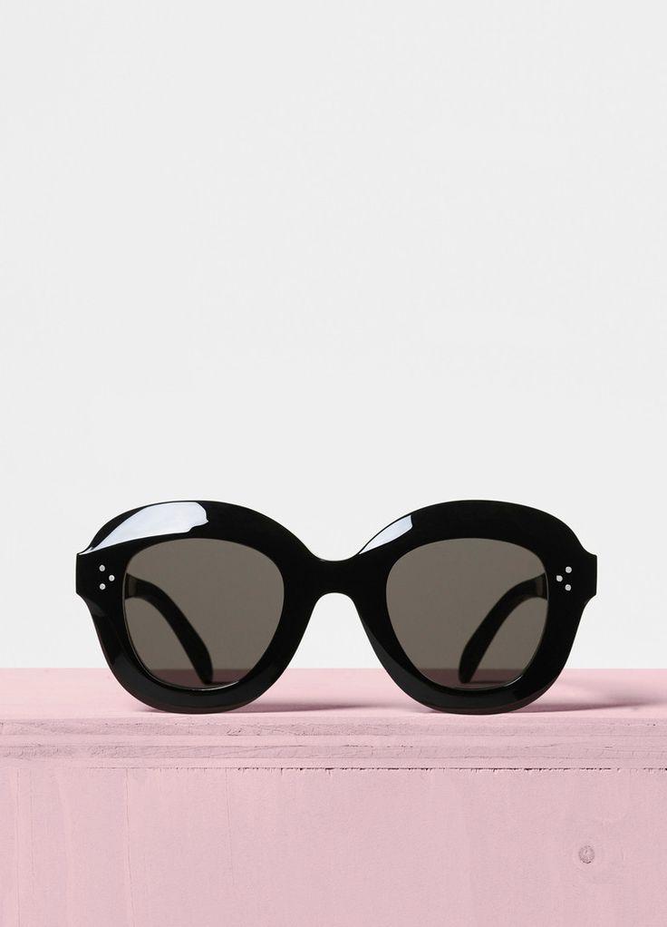 Personnalité / rétro / lunettes de soleil / petite boîte / petit visage / lunettes de soleil / bonbons / verres transparents / métal , 1