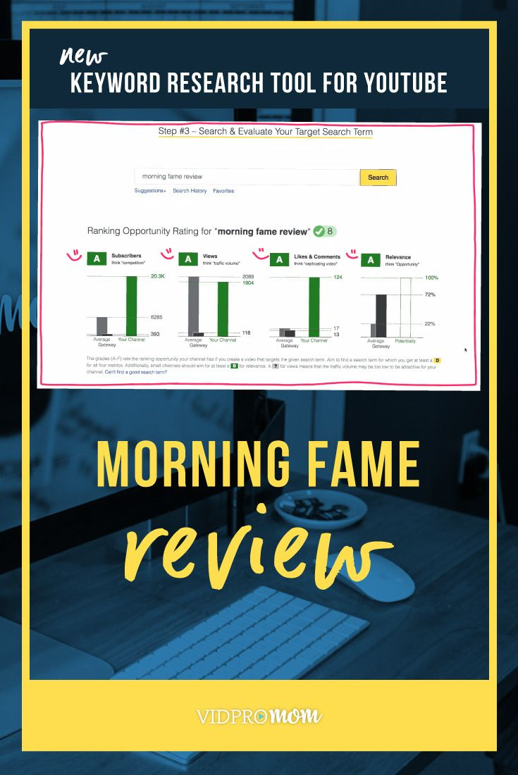 Morning Fame Review Mind Blowing New Keyword Tool For Youtube Meredith Marsh Vidpromom Keyword Tool Youtube Youtube Analytics