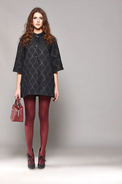 DON'T underestimate the impact of a brocade coat, especially if it's made of such a luxury fabric!