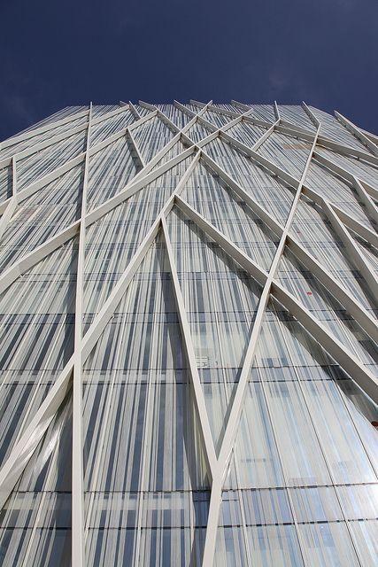 Torre Diagonal Zero Zero - Barcelona, Spain; designed by Enric Massip; photo by rick ligthelm, via Flickr #fachadas #facades
