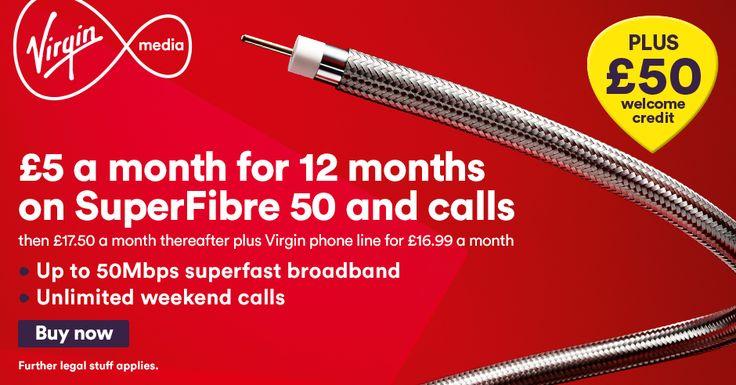 The £5 Superfibre 50 Broadband