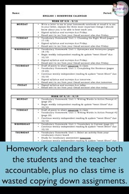 Finding a homework routine that is meaningful for students and manageable for teachers can be a challenge. Use homework calendars to help your students and yourself get organized and stay on top of assignments.
