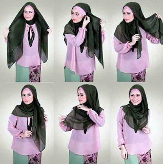 Cara Mudah Pakai Hijab Segi Empat Modern Bagi Pemula