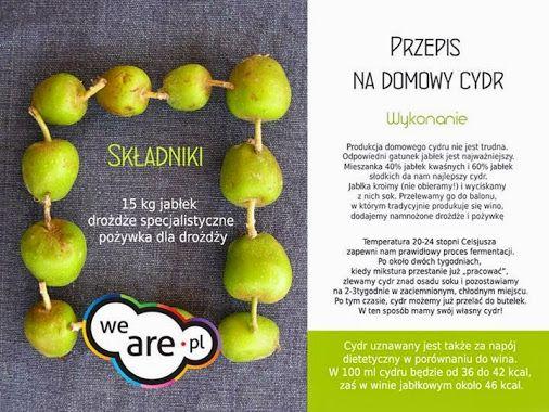 PRZEPIS NA DOMOWY CYDR #wearepl, #jedzjablka, #cydr