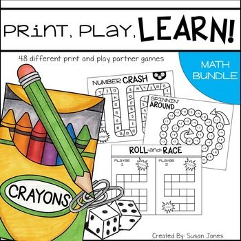 Print and play math games!Please note, this is a GROWING bundle! You can check which games are included below and also see when more games will be added. I dont know about your students, but mine LOVE to play games & how could you blame them?! These games are the perfect way to have your students practice skills theyve already learned to help their fluency.