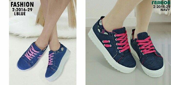 Sepatu Fashion Seri 2016 29 Kualitas Semprem Bahan Kanvas Hight