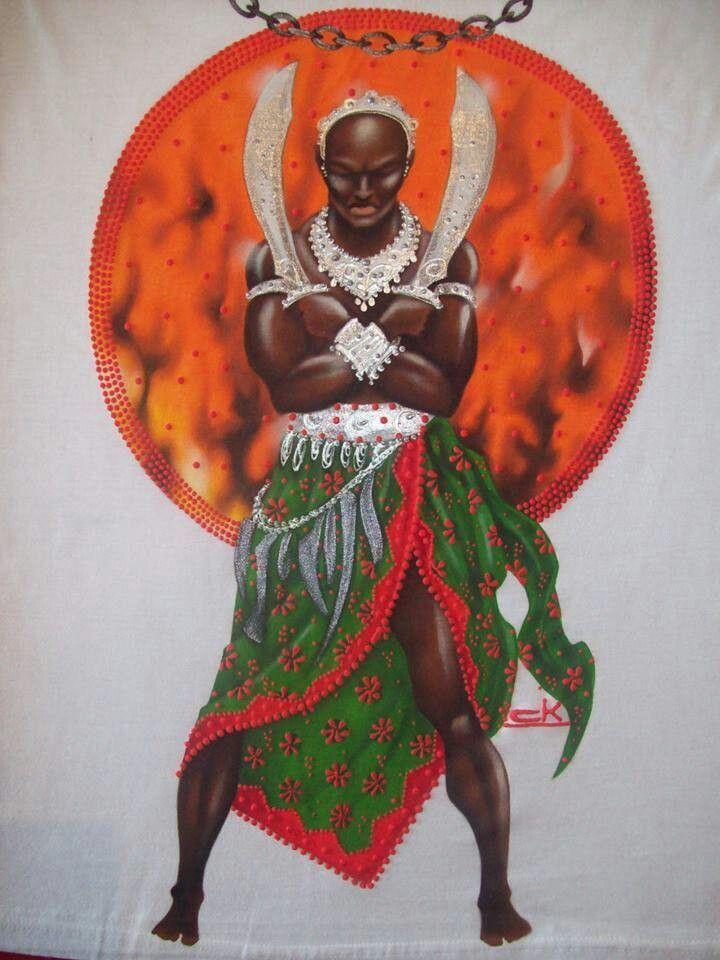 """""""Meu Trono forja os mais Nobres Guerreiros Universais!!! Patacuri Meu Pai Ogum... Sou Filha do Fogo que Forja as Armas e Escudos, Lanças e Correntes...Sou filha de Ogum Xoroquê...estou aqui e estou aí... Abro Caminhos e derrubo obstáculos. Protejo meus Chegados..."""""""