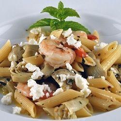 Penne with Shrimp, Artichokes and Feta | Noodles & Pasta! | Pinterest