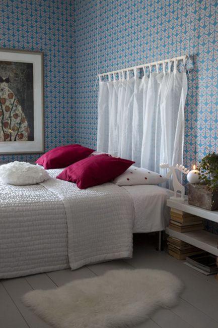 Wallpaper - Ritva Kronlund: Perhonen  Makuuhuone (kuva: Arto Vuohelainen 2011)