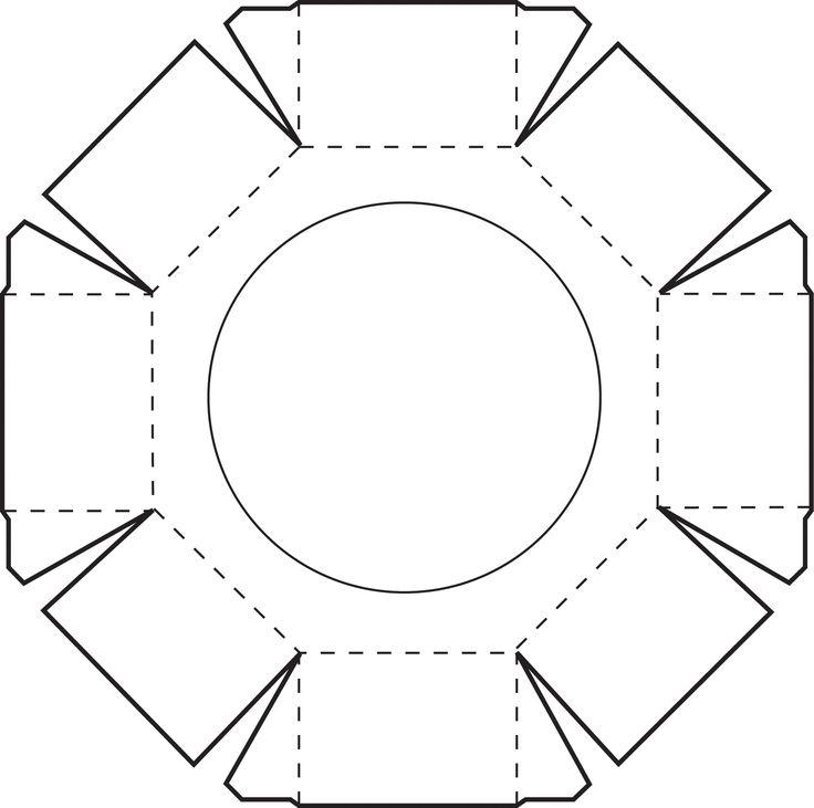 Octagonal Box lid - FREE printable