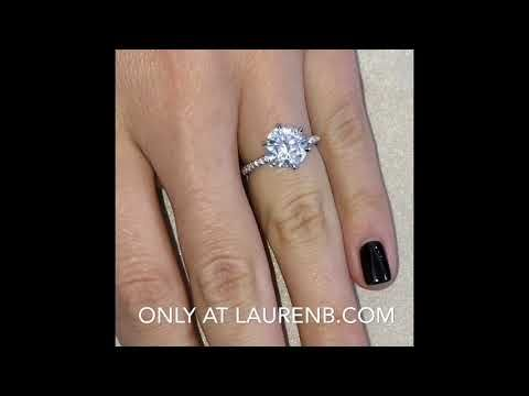 2 7 Ct Round Moissanite Engagement Ring Youtube In 2019