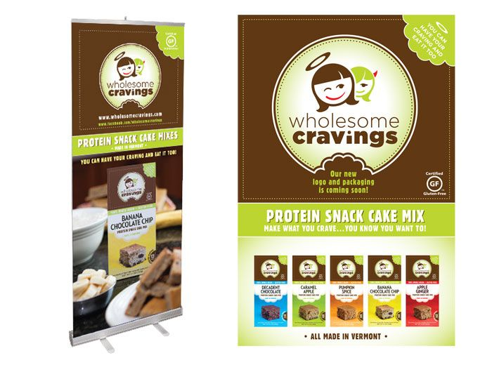 Wholesome Cravings Tradeshow Banner Design.