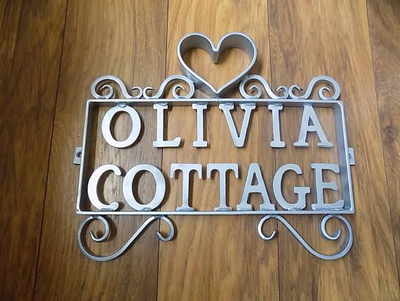 Quality Hand Crafted Wrought iron (Forged Steel) Custom Made House Name Plaque
