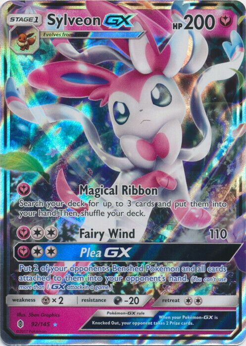 Pokemon Sylveon GX - 92/145 - Ultra Rare NM-Mint Guardians