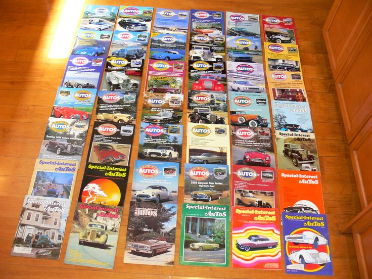 Vintage car magazines-special interest autos magazines-42 old auto magazines-hot rod magazines-classic car magazines-muscle car magazines by BECKSRELICS on Etsy