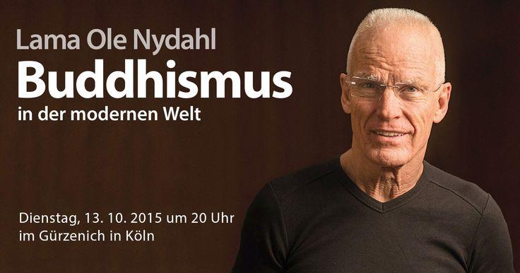 Am 13. Oktober 2015 wird Lama Ole Nydahl im Gürzenich in Köln eine Einführung in den Buddhismus geben und gemeinsam mit den Besuchern meditieren. Die Veranstaltung eignet sich für alle, die den Buddhismus und Meditation näher kennenlernen möchten.