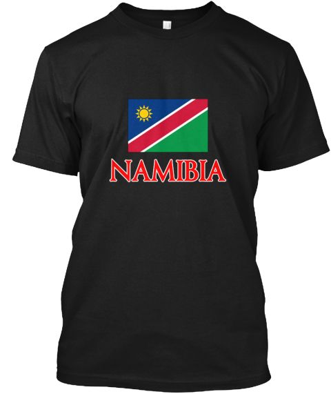 Namibia Flag Design Black T-Shirt Front - This is the perfect gift for someone who loves Namibia. Thank you for visiting my page (Related terms: Flag Namibia,I Heart Namibia,Namibia,Namibian,Namibia Travel,I Love My Country,Namibia Flag, Namibia #Namibia, #Namibiashirts...)