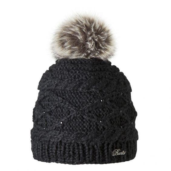 On adore le ponpon très doux et les petits strass de ce bonnet femme Claire de BARTS.